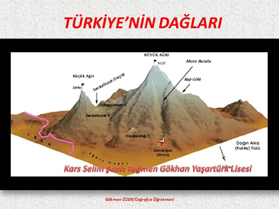 TÜRKİYE'NİN DAĞLARI Gökmen ÖZER/Coğrafya Öğretmeni