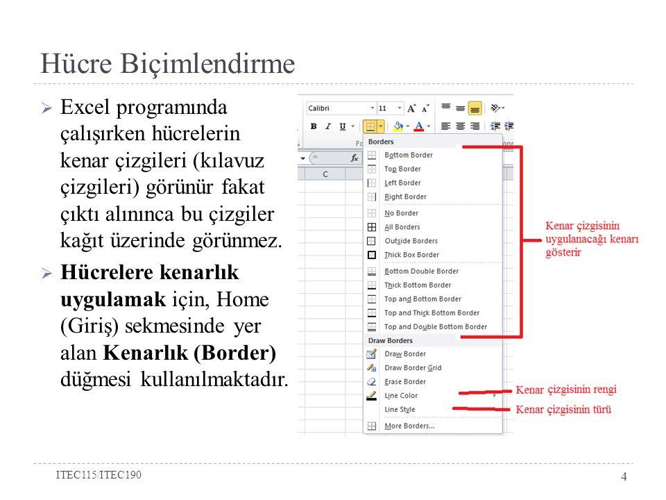 Listeler ile Çalışmak  Örneğin, aşağıdaki bilgilerin olduğu bir excel dosyası olduğunu varsayınız.