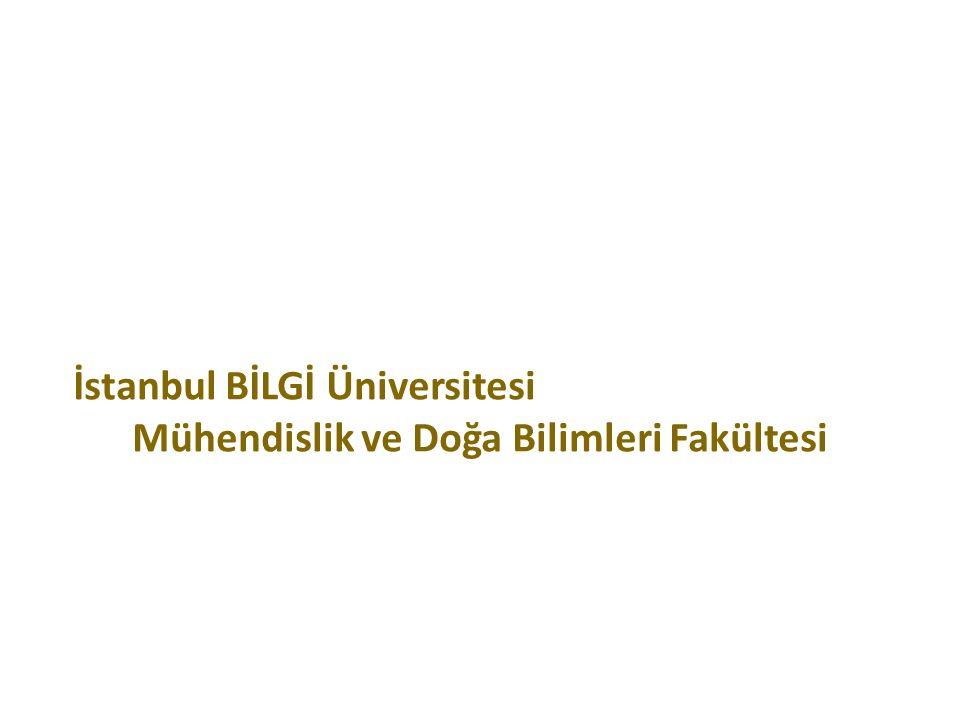 2015 İstanbul BİLGİ Üniversitesi Mühendislik ve Doğa Bilimleri Fakültesi