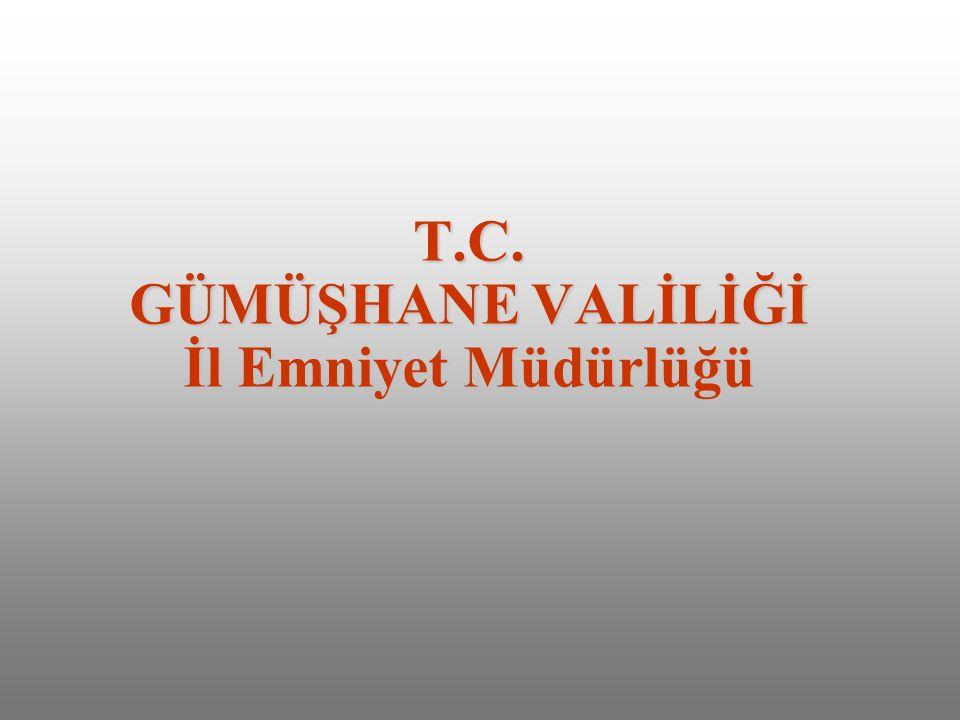 T.C. GÜMÜŞHANE VALİLİĞİ İl Emniyet Müdürlüğü