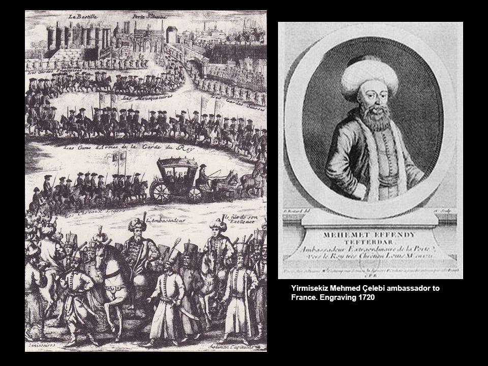 Yirmisekiz Mehmed Çelebi ambassador to France. Engraving 1720