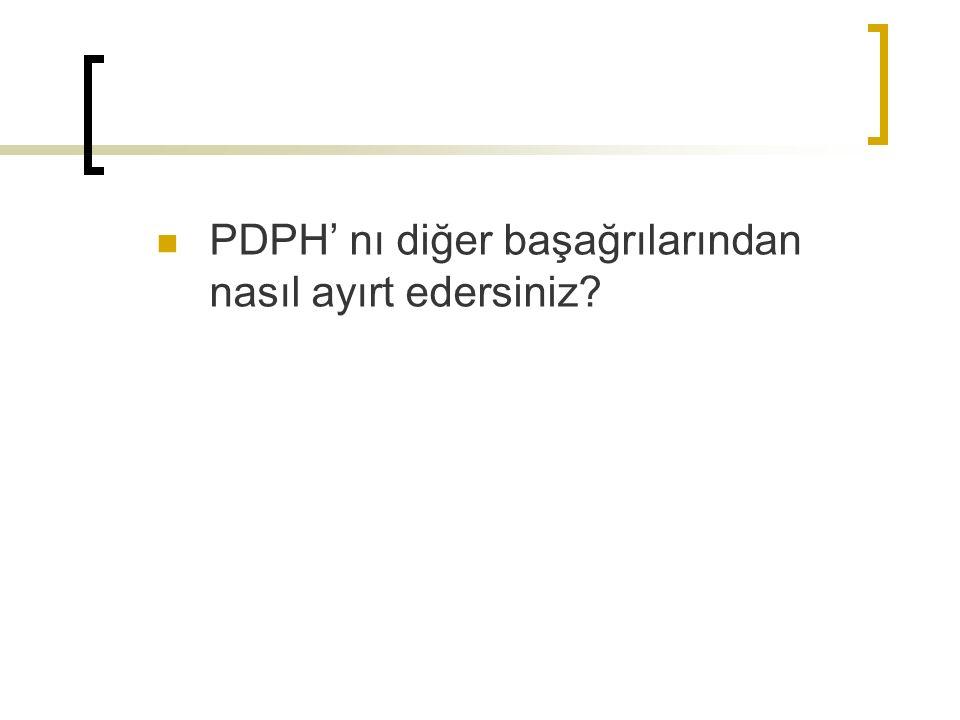 PDPH' nı diğer başağrılarından nasıl ayırt edersiniz?