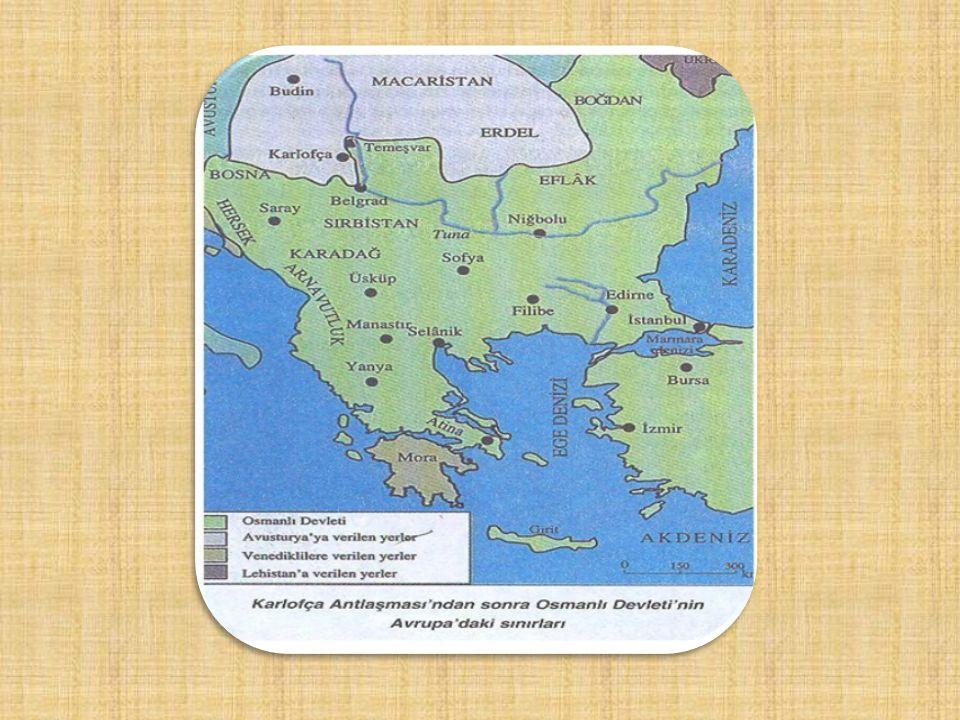 TEMEL SORUN: Sıcak denizlere inmek Bahçesaray Antlaşması (1678) -İlk Osmanlı Rus antlaşmasıdır. -Kazaklar sorunu nedeniyle bozulan ilişkiler Ruslardan