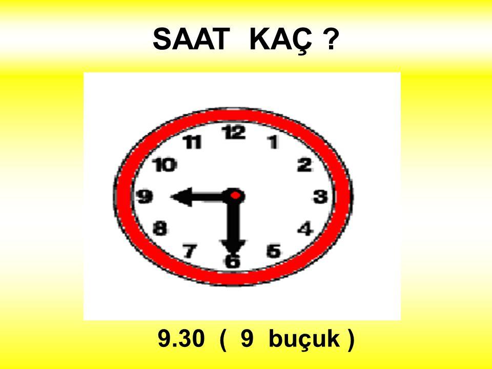 SAAT KAÇ ? 9.30 ( 9 buçuk )
