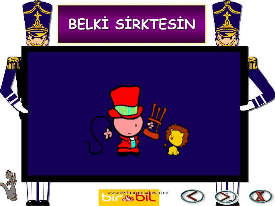 BELKİ SİRKTESİN www.egitimcininadresi.com