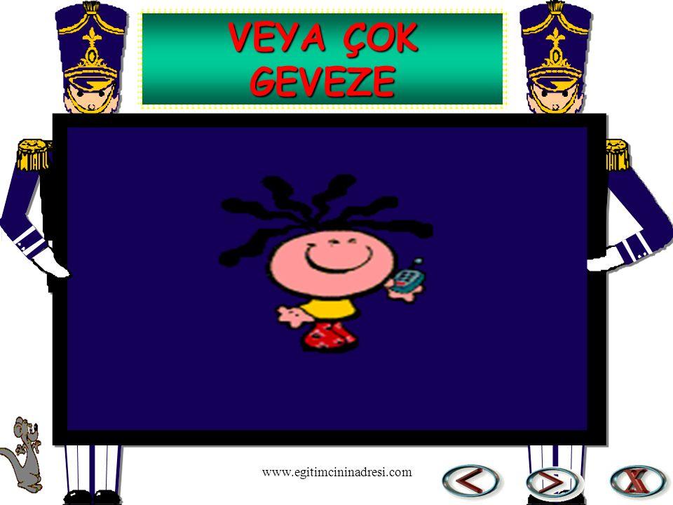 VEYA ÇOK GEVEZE www.egitimcininadresi.com