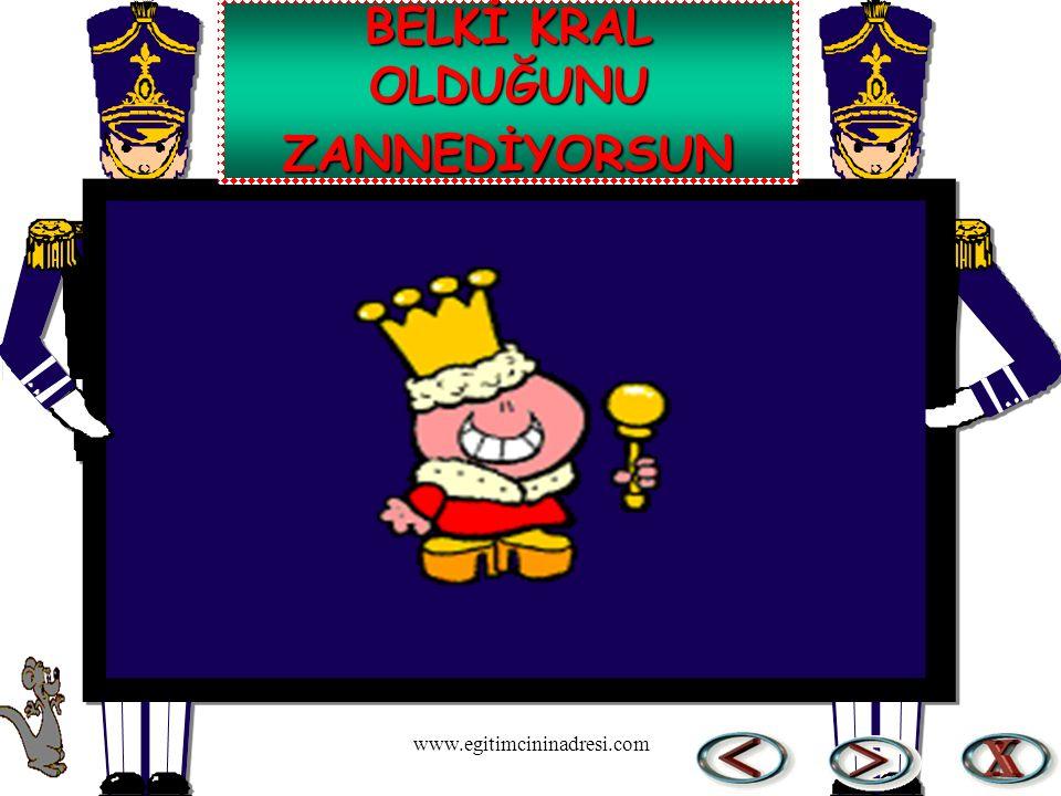 BELKİ KRAL OLDUĞUNU ZANNEDİYORSUN www.egitimcininadresi.com