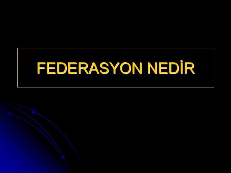 FEDERASYON NEDİR