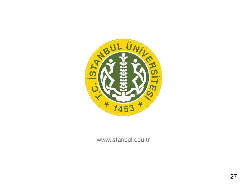 www.istanbul.edu.tr 27