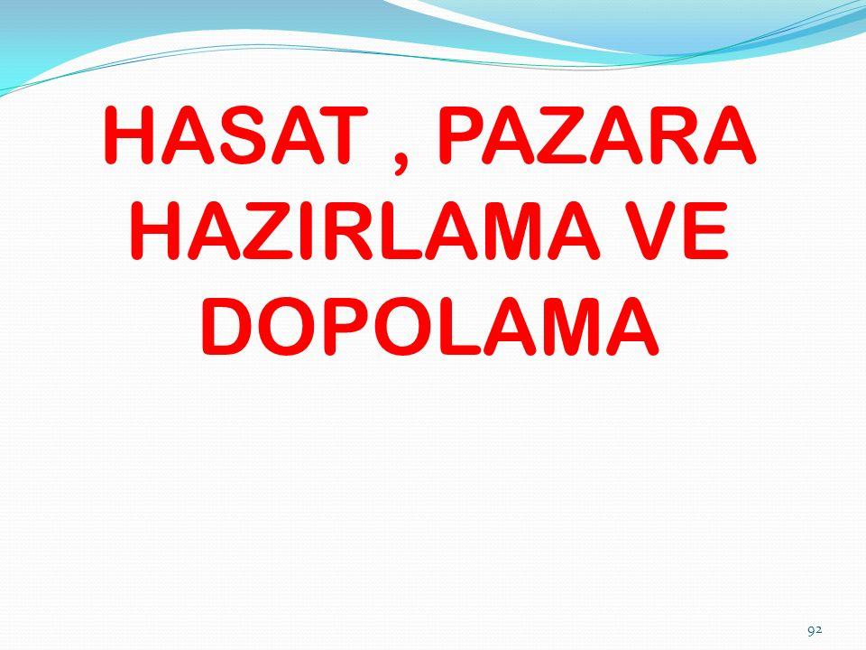HASAT, PAZARA HAZIRLAMA VE DOPOLAMA 92