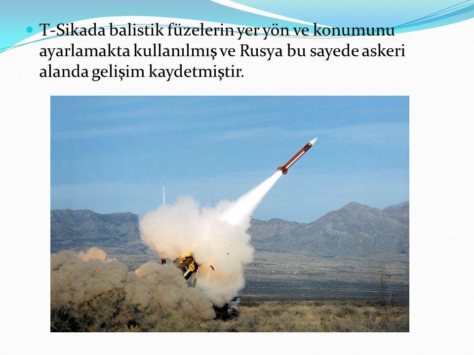 T-Sikada balistik füzelerin yer yön ve konumunu ayarlamakta kullanılmış ve Rusya bu sayede askeri alanda gelişim kaydetmiştir.