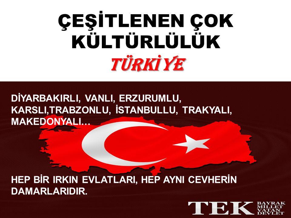 TÜRKİYE: MOZAİKTEN MERMERE MİLLET İMGELERİ Türkiye de azınlıklar kapsamına Müslüman oldukları için Kürtler girmezken, Türk olduğu halde başka bir dine mensup olan bir çok unsur girebilmiştir.