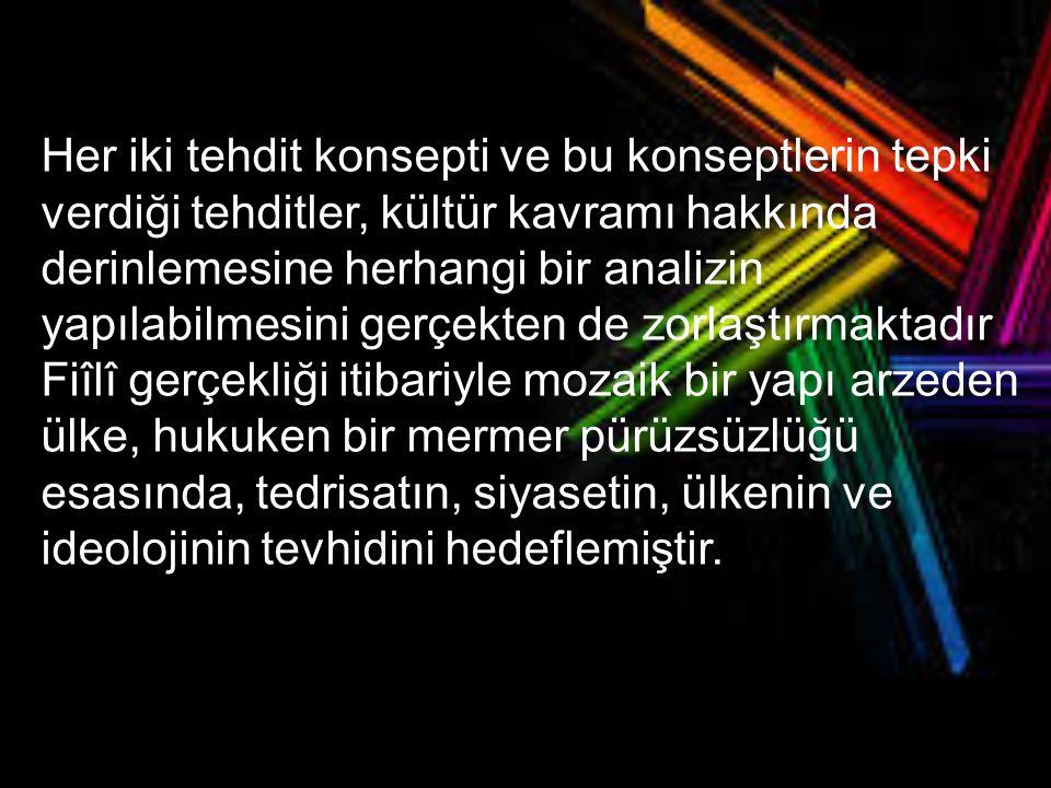 Soner Çağaptay ın tespit ettiği gibi, oluşum döneminde, Türk Milletinin birbirinden ayırdedilebilecek üç çeşit tanımı gelişmiştir.