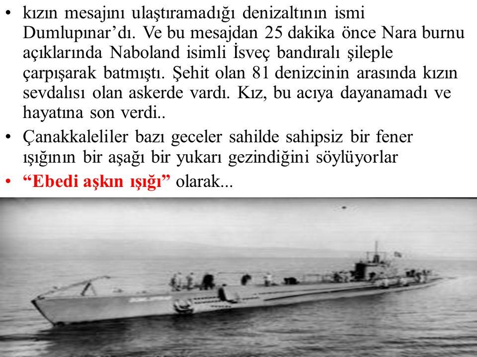 Komutan, mesajın yarım saatlik mesafeyle önlerinde seyretmekte olan denizaltındaki genç askere gönderildiğini anlamıştı.