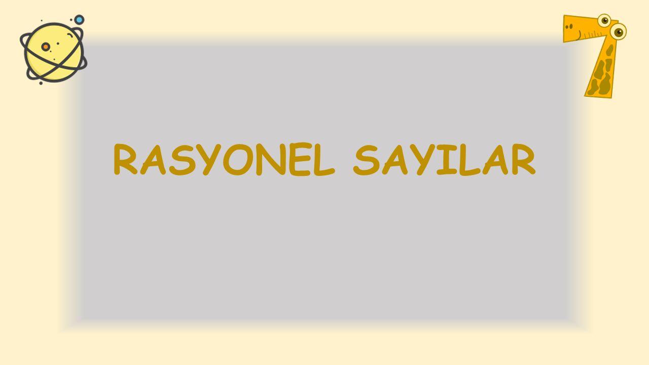 RASYONEL SAYILAR