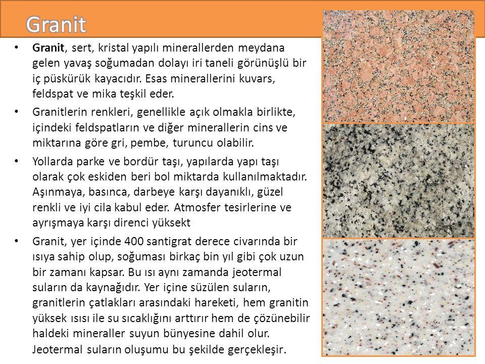 Granit, sert, kristal yapılı minerallerden meydana gelen yavaş soğumadan dolayı iri taneli görünüşlü bir iç püskürük kayacıdır.