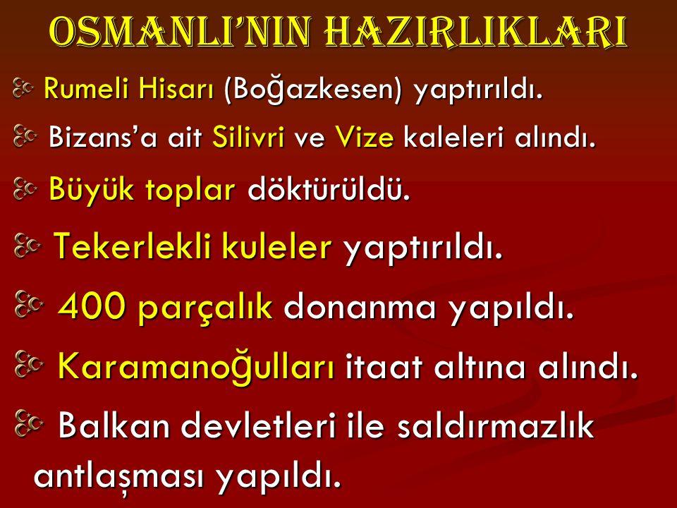 Fatih S.Mehmet İ stanbul'u fethettikten sonra buraya Fatih Cami'sini yaptırmıştır.
