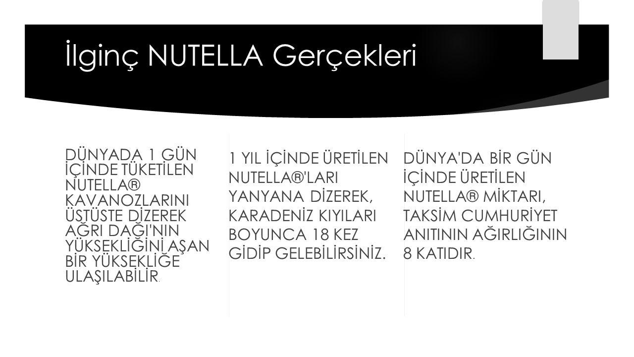 Nutella Hakkında Bilmediğiniz 8 Şey Dünyada nutella içeren suç oranları git gide artmaya başladı.