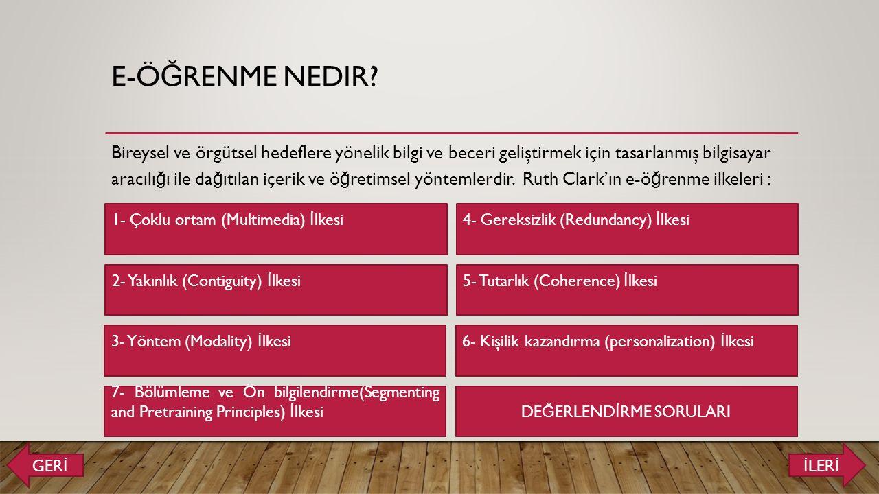 E-Ö Ğ RENME NEDIR.