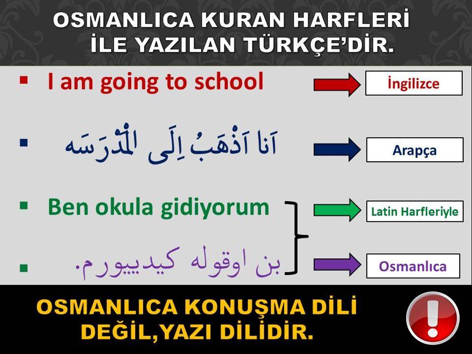 Osmanlıca; Türklerin yüzyıllar boyunca geliştirdikleri özgün bir dildir.
