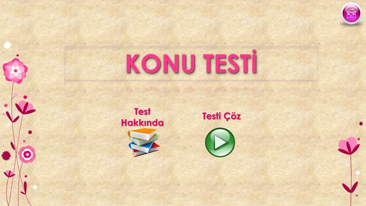 ‹#› Test Hakkında Testi Çöz