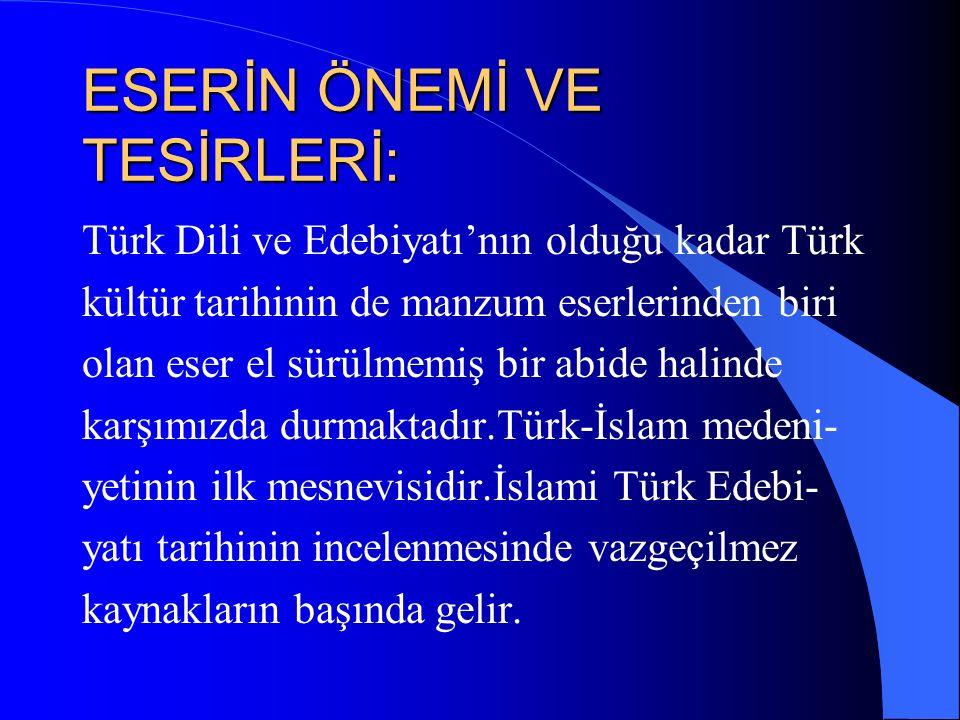 Bu eser BAYAT kelimesiyle başlar.Bu kelime Eski Türkçe'de ALLAH anlamına gelir.İslam alimleri söze başlarken ALLAH'ın adıyla baş- larlar.Yusuf'ta bu ananeye uyarak eserine Bayat yani ALLAH'ın adıyla başlar.