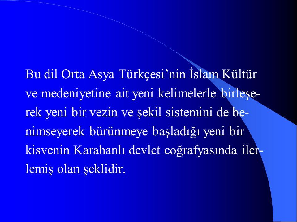 İlimde Arapça'nın,şiirde Farisi'nin klasik lisanlar olarak kullandığı bir ortak medeniyet devrinde yazarın Kutadgu Bilig Türkçe ile yazması mühim bir Türk dili hadisesidir.