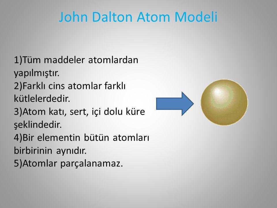 Joseph John Thomson (1856 - 1940) Joseph John Thomson Atom Modeli Atomun elektron yükünün kütlesine oranını hesaplayarak elektronu keşfetmiştir.