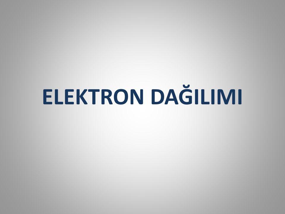 Çok elektronlu atomlar için ise aşağıdaki ek kuralları göz önünde bulundurmak gerekir: 4.