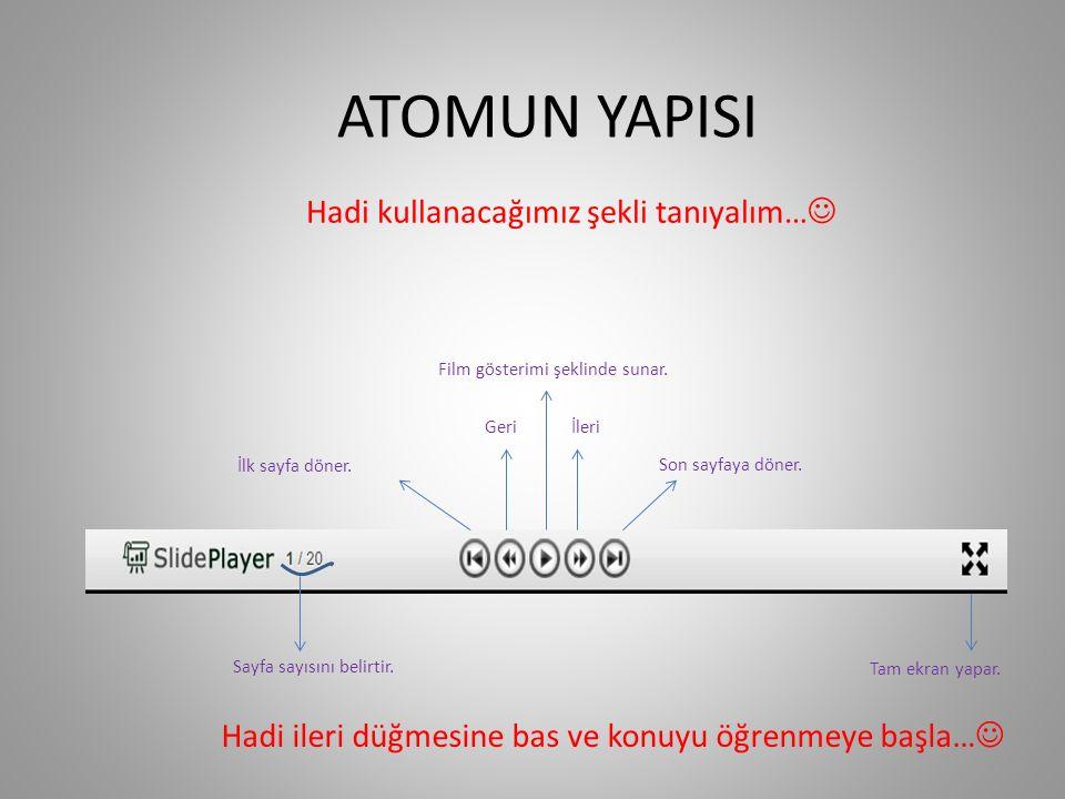 UYARILMIŞ HAL Bir atoma yeterli enerji verildiğinde bir orbitaldeki bir atom bu enerji sayesinde daha yüksek enerjili bir orbitale geçebilir.