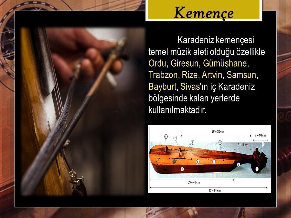 Karadeniz kemençesi nin standart ölçülerinden söz etmek güçtür.