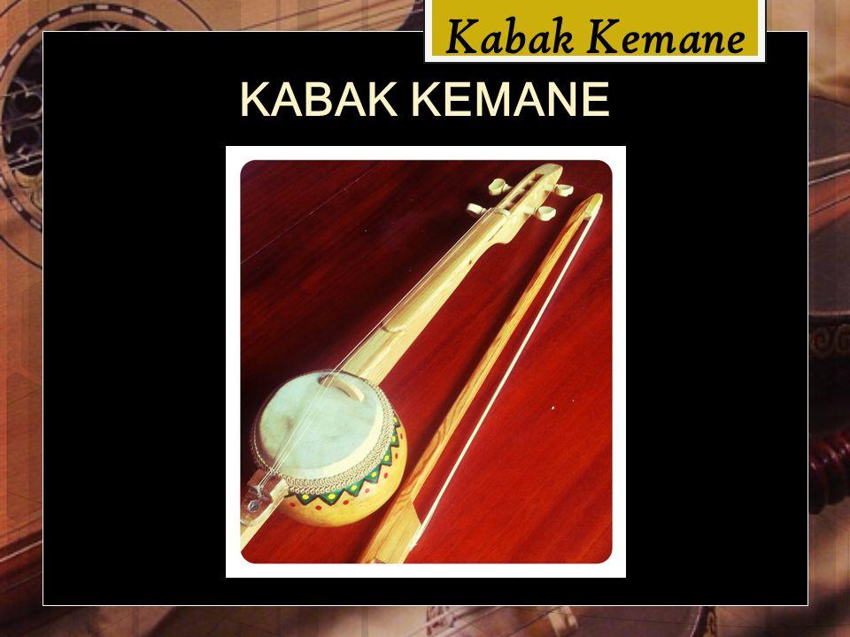Kabak Kemane Kabak kemane, Türk Halk Müziği ndeki telli, yaylı ve deri kapaklı sazların tek örneğidir.
