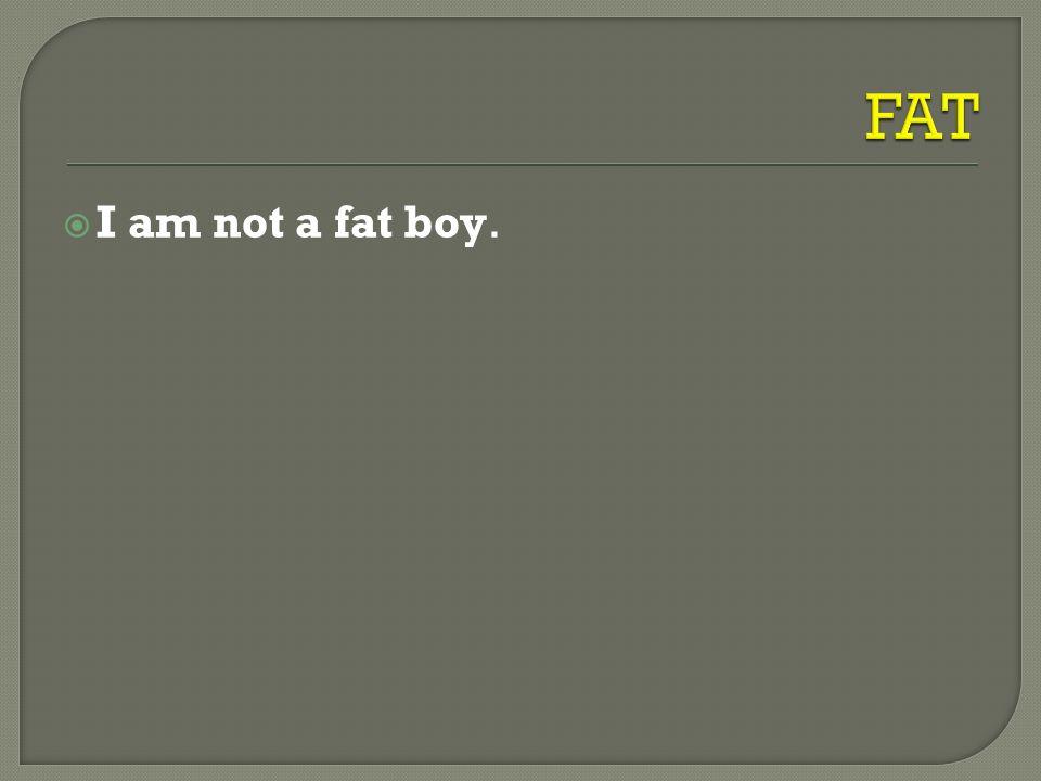  I am not a fat boy.