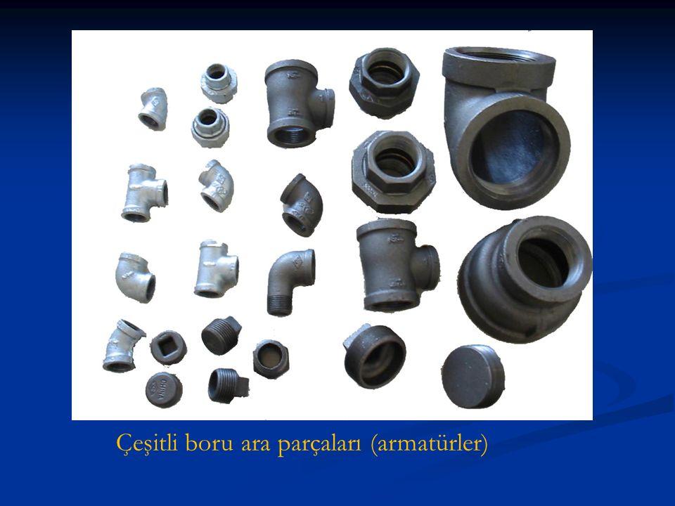 Çeşitli boru ara parçaları (armatürler)