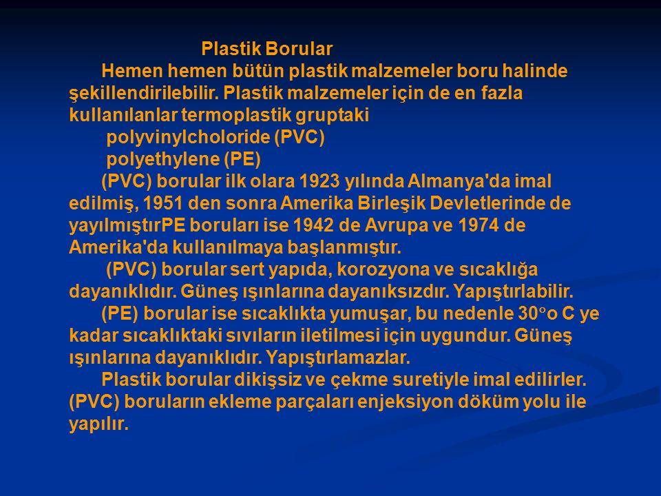 Plastik Borular Hemen hemen bütün plastik malzemeler boru halinde şekillendirilebilir.