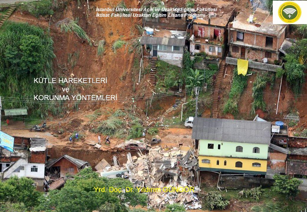 1.Moloz ve toprak kayması 2.Kaya kayması (rock slide) 3.Kaya düşmesi (rock falls)