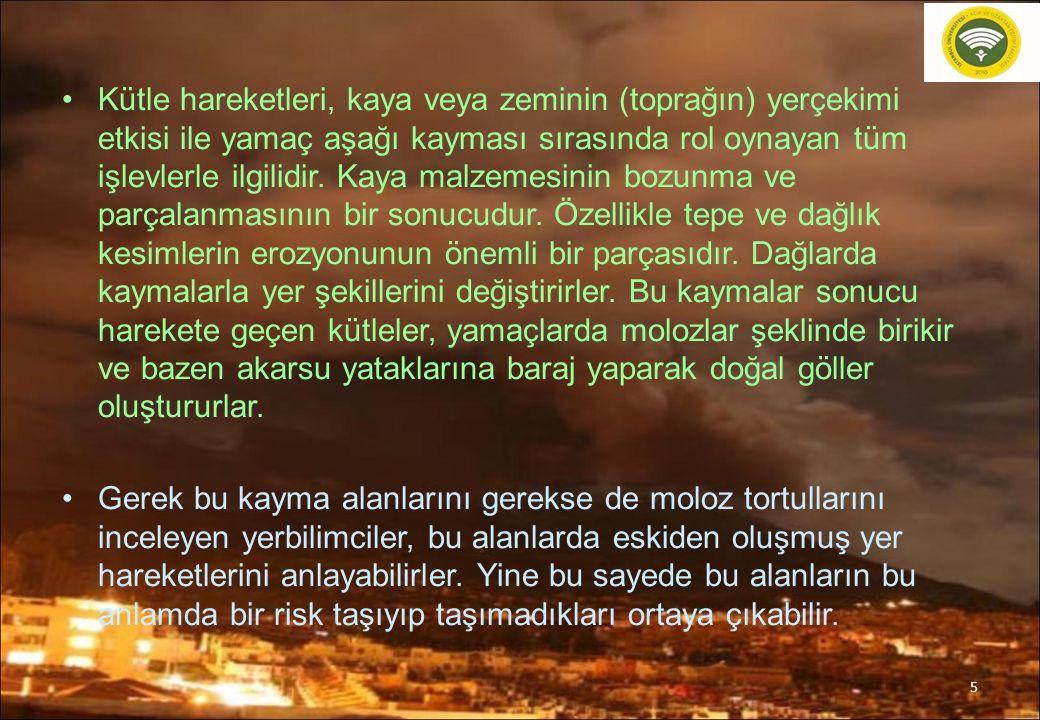 Türkiye'de Meydana Gelen Önemli heyelanlar 46.
