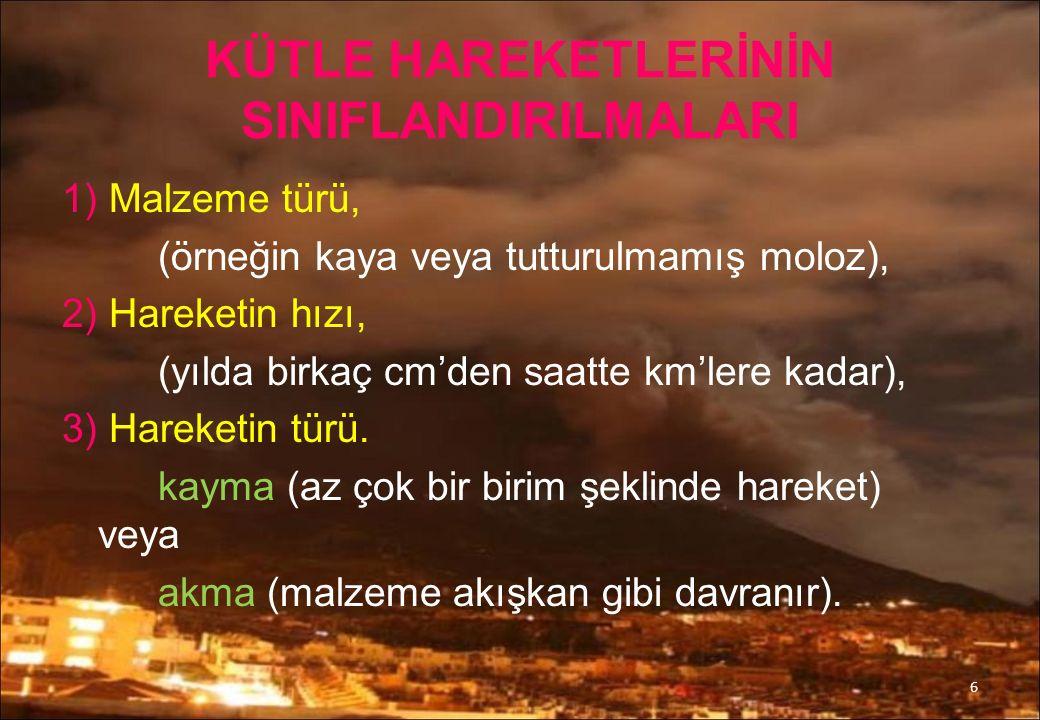 Türkiye'de Meydana Gelen Önemli heyelanlar Senirkent Çamur akıntısı 1995 : Isparta'nın Senirkent ilçesinde meydana gelen ve bir hafta kadar sürfen şiddetli aşırı yağışlar 2402 metrelik kapıdağ zirvesinden aşağıya doğru toprak ve çakıldan oluşan Çamur selinin akmasına neden olmuştur.