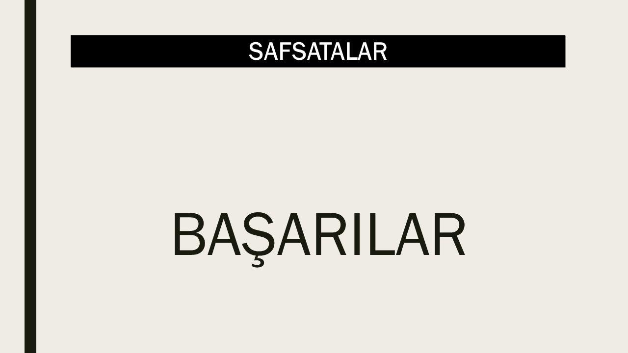 SAFSATALAR BAŞARILAR