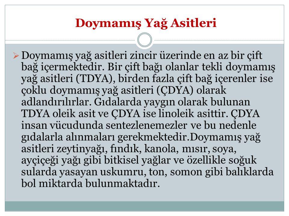 Kaynakça Çakmakçi,S.,Kahyaoğlu,D.T., 2012.Yağ Asitlerinin Sağlık ve Beslenme Üzerine Etkileri.