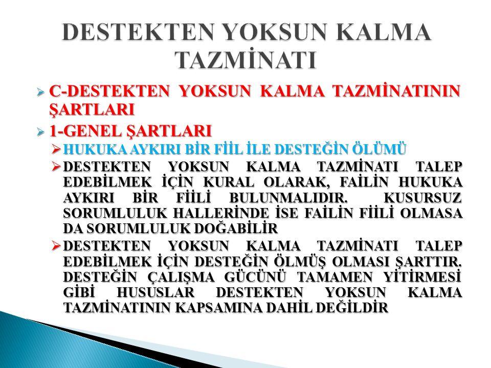  HUKUKA AYKIRI FİİLDEN ZARAR DOĞMASI  TBK 53.