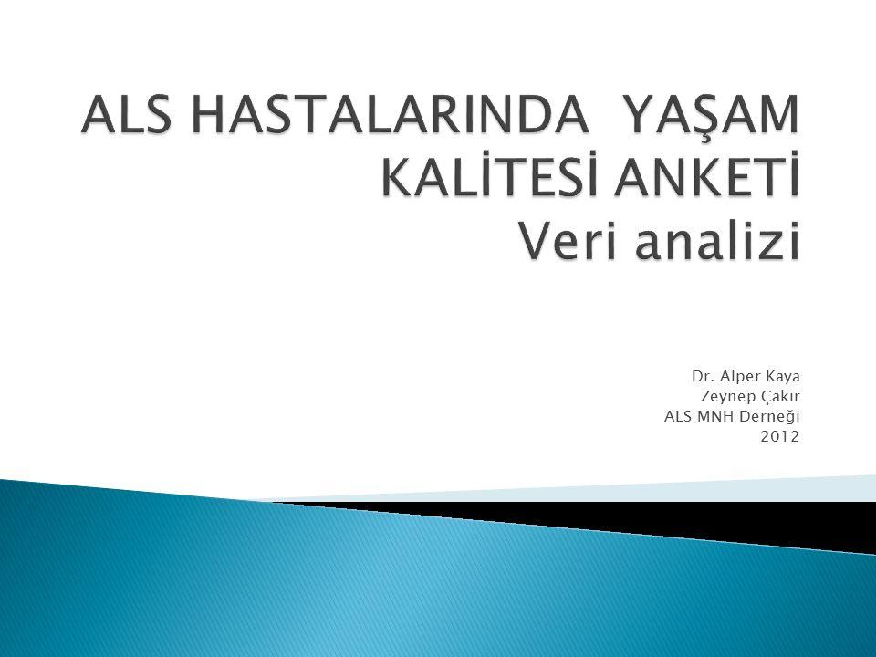 Dr. Alper Kaya Zeynep Çakır ALS MNH Derneği 2012