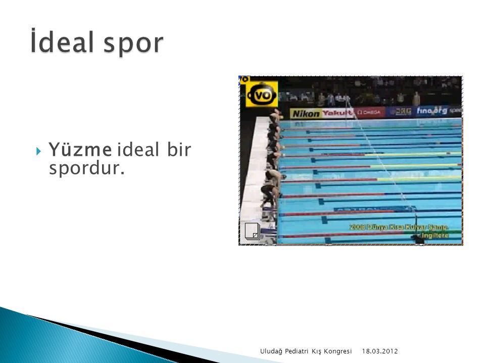  Yüzme ideal bir spordur. 18.03.2012 Uludağ Pediatri Kış Kongresi