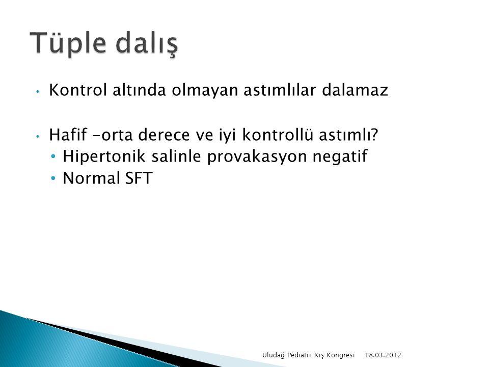 Kontrol altında olmayan astımlılar dalamaz Hafif -orta derece ve iyi kontrollü astımlı.