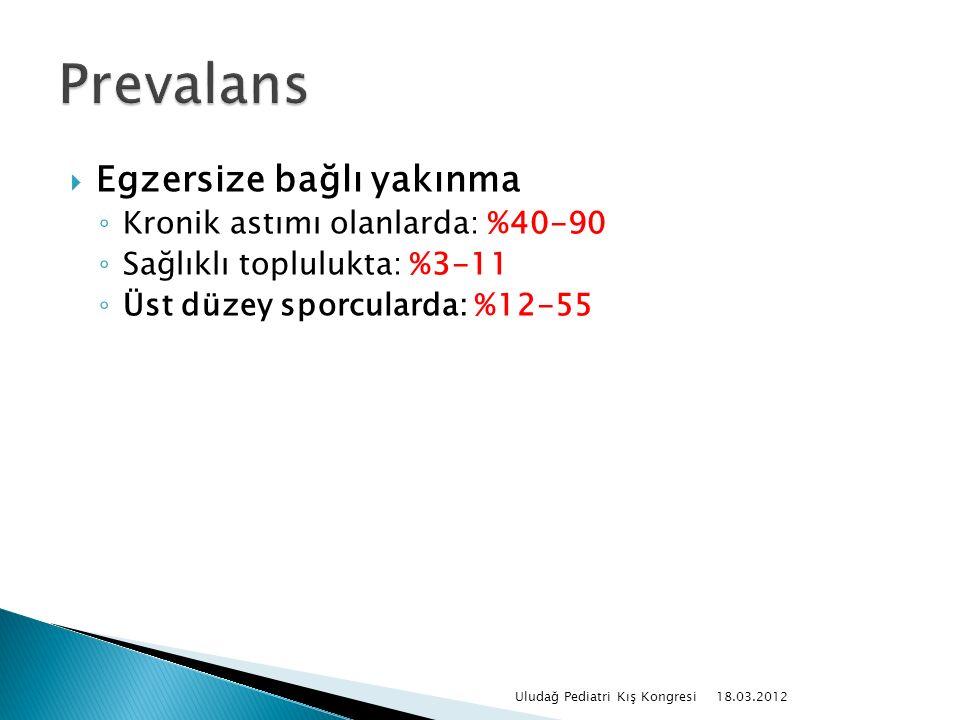  Kronik inflamatuar hastalıktır  Kronik inflamasyon hava yollarında aşırı duyarlılık yapar 18.03.2012 Uludağ Pediatri Kış Kongresi