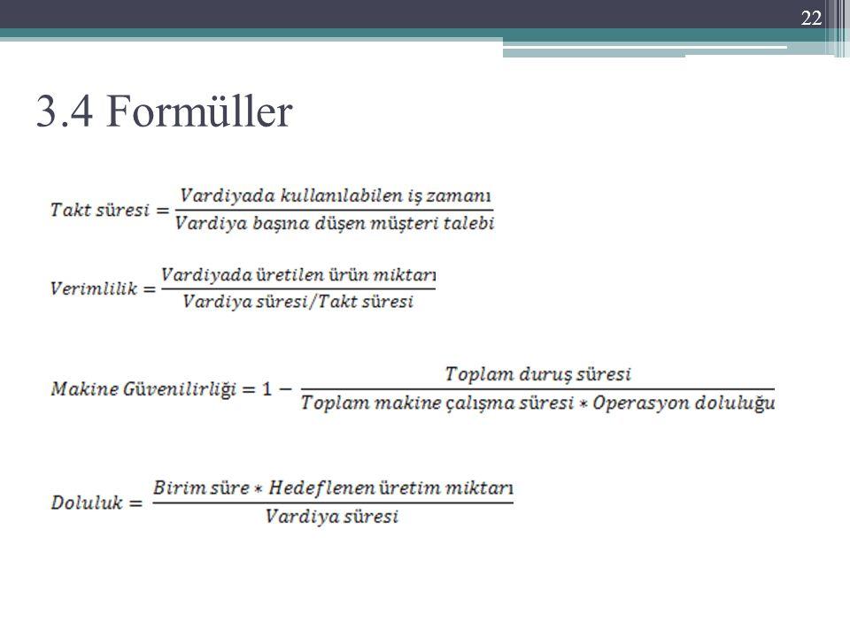 3.4 Formüller 22