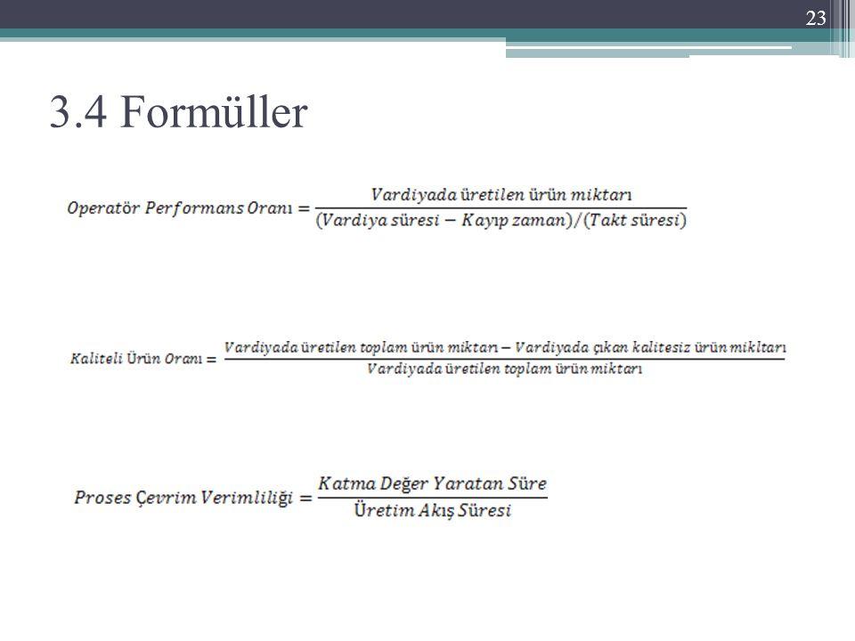 3.4 Formüller 23