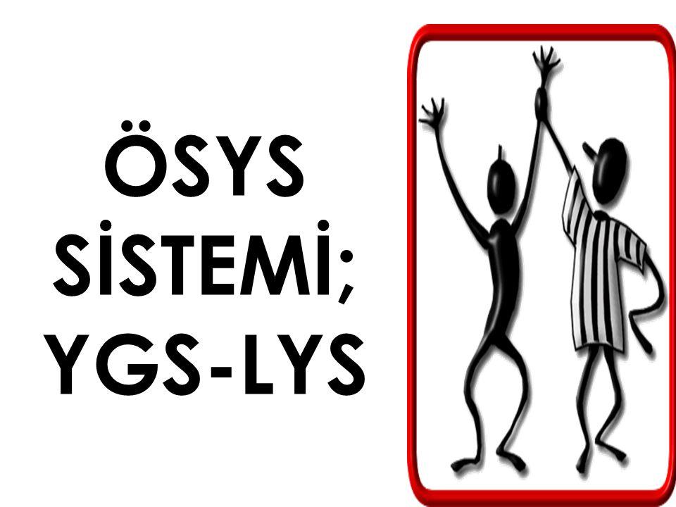 ÖSYS SİSTEMİ; YGS-LYS