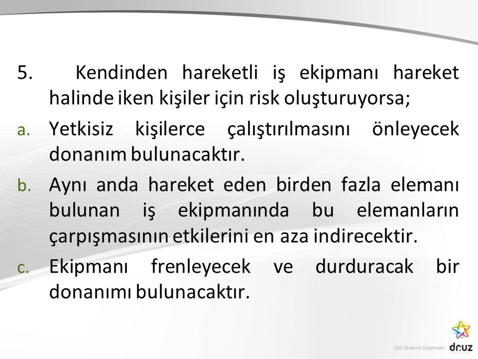 İSG Yönetim Sistemleri 5.