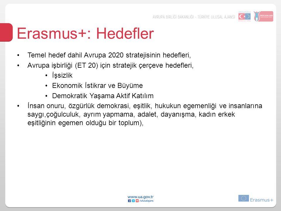 Erasmus+: Hedefler Hedeflere nasıl ulaşılacak.